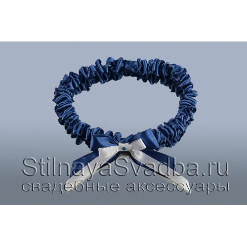 Подвязка цвета морской волны фото