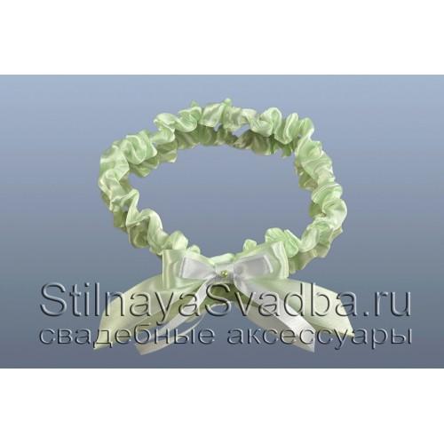 Узкая подвязка  салатовая фото