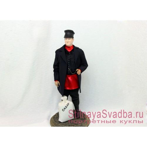Портретная кукла в образе  русского купца фото