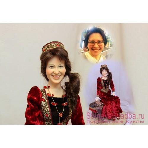 Портретная кукла  дама с собачками фото