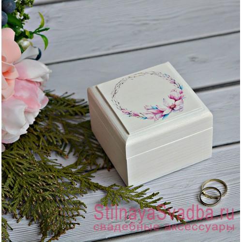 Шкатулка для колец Розовые мечты фото