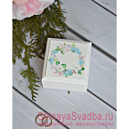 Шкатулка для колец с незабудками и жасмином фото