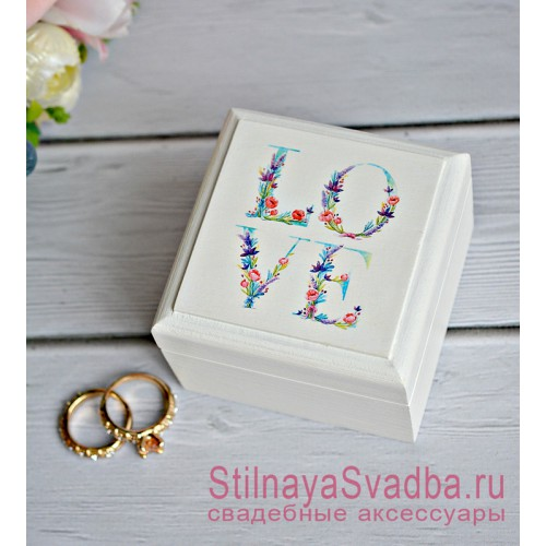 Деревянная эксклюзивная шкатулка  LOVE фото
