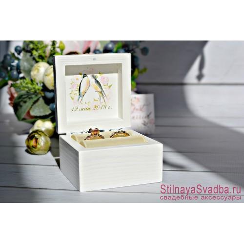 Шкатулка  свадебная с ласточками фото