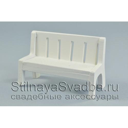 Декоративная скамеечка  с эффектом старения фото