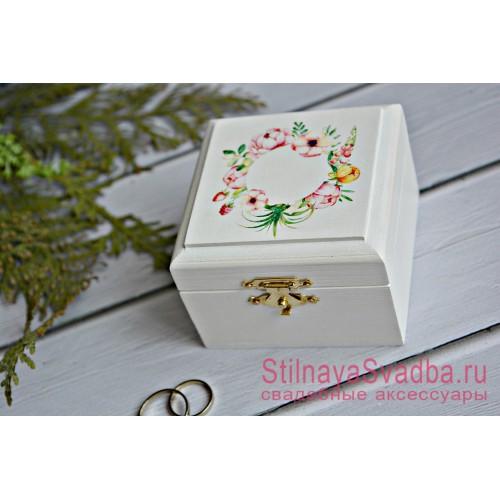 Свадебная шкатулка с цветами и ягодками фото
