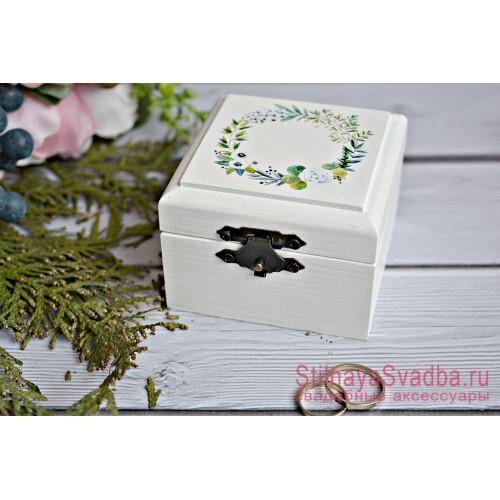 Свадебная шкатулка Зелёный венок фото