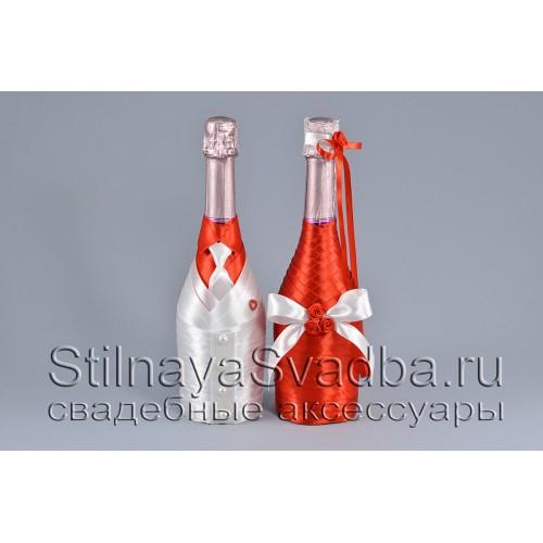 Свадебное шампанское в стиле Рафаэлло фото