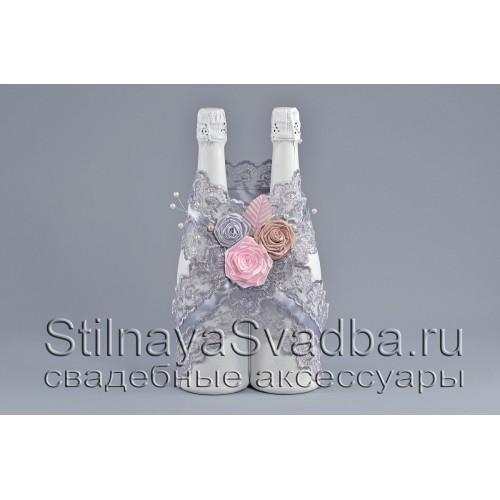 Украшение для шампанского Розовый кварц фото
