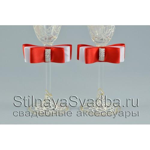 Съемные украшения для бокалов,Красный рубин фото