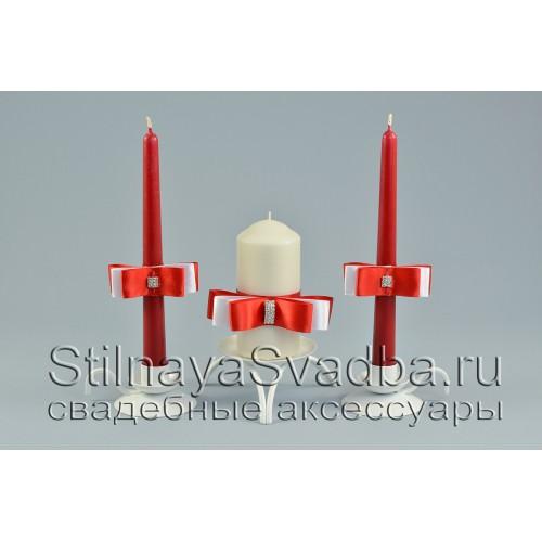 Свадебные свечи Красный рубин фото