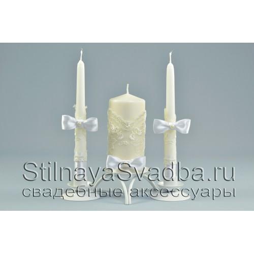 Свадебные свечи белоснежные фото