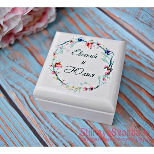 Свадебная шкатулка для колец Акварель фото