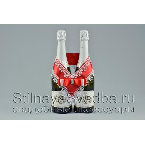 Съёмное украшение на шампанское  Красный рубин фото