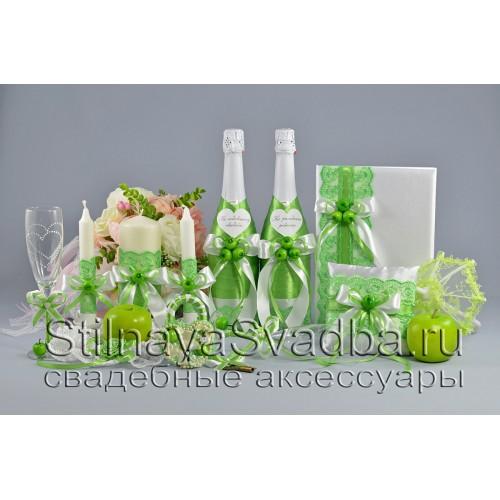 Яблочные аксессуары на свадьбу фото