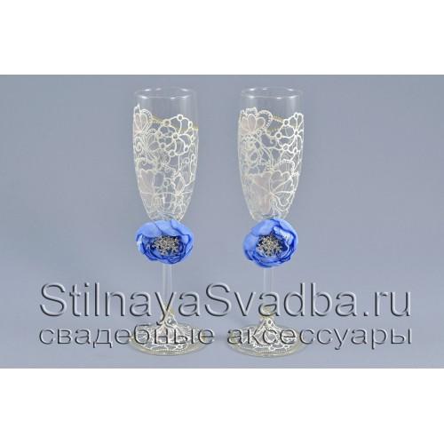 Съемные украшения для бокалов со снежинками фото